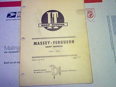 Mf285 Vintage Massey Ferguson Tractor It Shop Service Manual Mf285