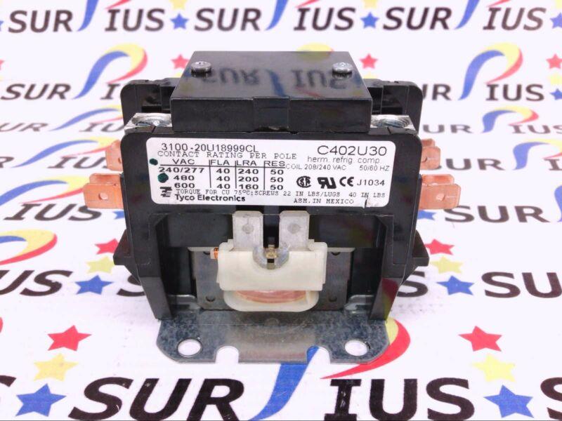USSP C402U30 TYCO Electronics Magnetic Contactor 208/240 VAC 3100-20U18999CL