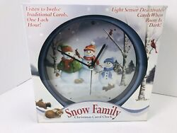 Snow Family 8 Christmas Carol Clock • Plays 12 Carols Music
