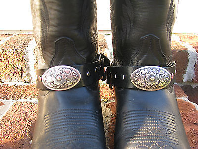 2 Leather Boot Belts Straps Harley Biker Horse Western Rider Leather Jewelry