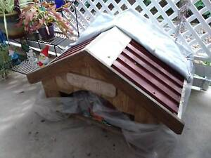 Pine with coloubond roof dog kennel, room for three. Custom made.