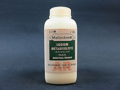 Sodium Metabisulfite Granular Acs Grade 97.0 Minimum 1 Pound Mallinckrodt 7777