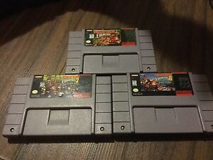 Donkey Kong country 1-3 SNES