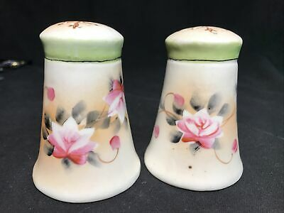 Beige Shakers with fruit and flowers salt and pepper set