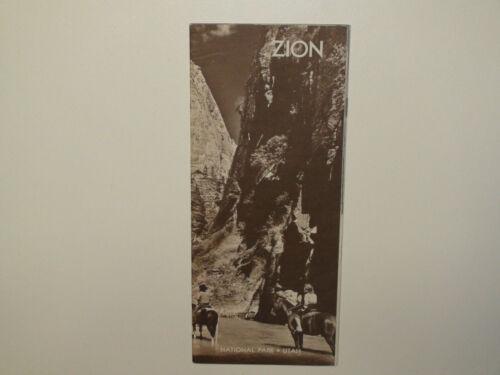 Vintage 1966 Zion National Park Utah Brochure / Pamphlet - VG