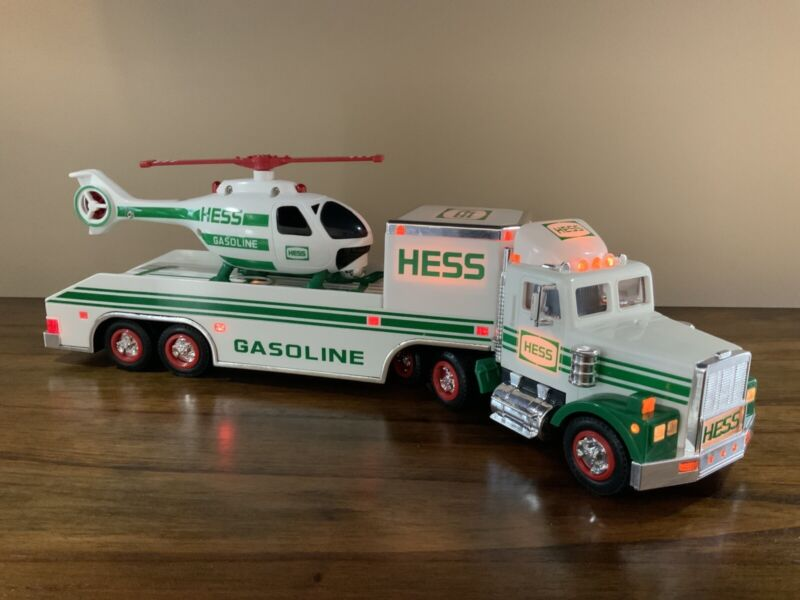 1995 Hess Toy Truck And Helicopter With Lights And Sounds -  New In Box