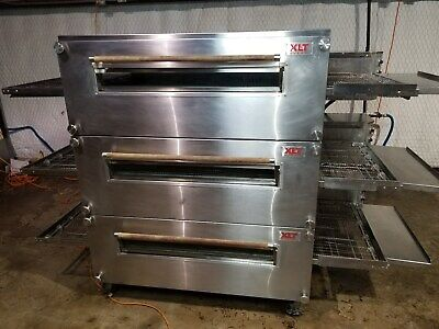 Xlt 3255 Triple Stack Natural Gas Pizza Conveyor Ovens ........video Demo