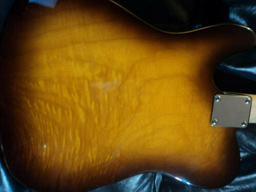 TELECASTER    AMAZING   46MM  ALDER   FLAME  QUILTED  BODY   MAPLE  NECK