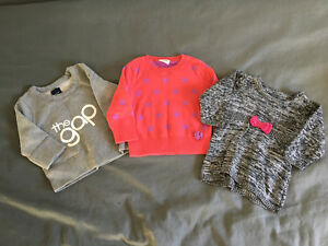 Girls long sleeve sweaters size 3-6 months