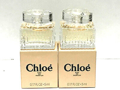 2X CHLOE for Women by Chloe Perfume 0.17oz / 5ml Each EDP MINI NEW IN BOX