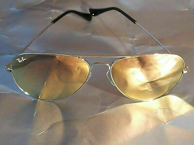 Ray Ban RB3026 Aviator Unisex Sunglasses 62MM Silver Frame/ Pink Mirror Lens