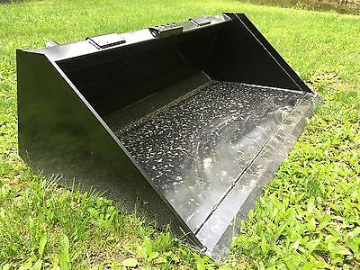 New Heavy Duty 60 Skid Steer Bucket For Bobcat Casecatjohn Deere More - 5