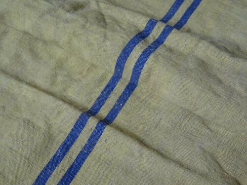 Antique European Feed Sack GRAIN SACK Blue Stripe # 10016