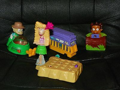 4 BURGER KING Kids Meal THE WILD THORNBERRYS Toys Figures RUGRATS GO WILD -