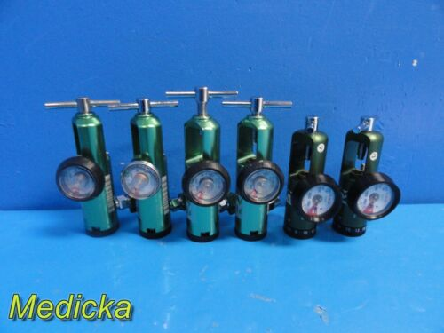 6X Responsive Respiration Inc Model 120-1050 BRASS 50 PSI O2 Regulators ~ 22486