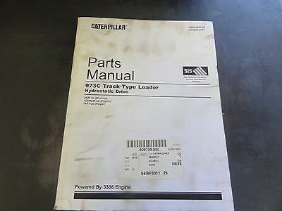 Caterpillar 973c Track-type Loader Hydrostatic Drive Parts Manual 3rz