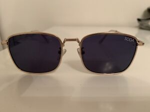 Soda shades Harper gold and blue lens sunglasses