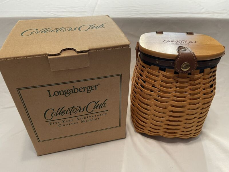 Longaberger Collectors Club Five Year Anniversary Charter Member Basket