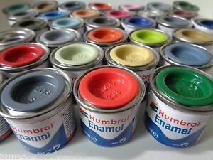 (11,36€/100ml) HUMBROL Enamel / Lack / Email Farben, 14ml Farbdosen, Auswahl