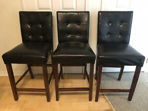 3 matching bar chairs