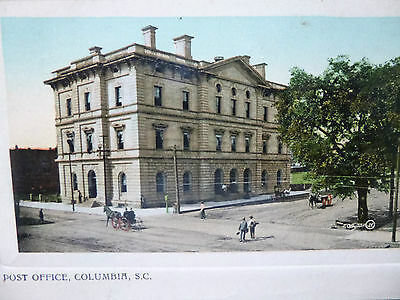 Early 1900's The Post Office Columbia, SC South Carolina PC