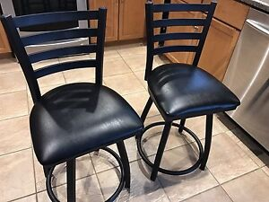 Black steel and leather chair set  Cambridge Kitchener Area image 2