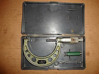 Mitutoyo 103-179 2-3 .001 Outside Micrometer W Case Standard Wrench
