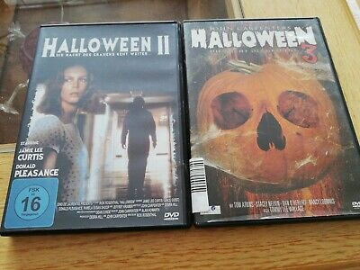 Halloween 2+3 John Carpenter Horror DVD's - Halloween Dvds