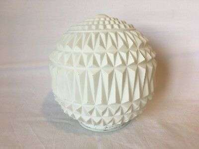 Vintage Frosted Glass Lamp Shade 3D Texture Triangles
