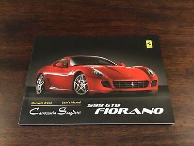 FERRARI 599 GTB FIORANO CARROZZERIA SCAGLIETTI OWNERS MANUAL 2438/06