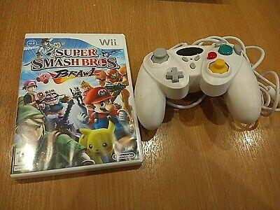 Nintendo Wii Smash Bros Brawl Nintendo & Fight Controller (Gamecube Design), used for sale  Shipping to Nigeria