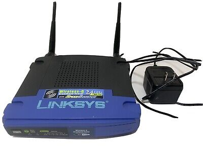 Linksys Wireless-G Broadband Router 2.4 GHz with SpeedBooster with Cord WRT54GS, used for sale  Shipping to India
