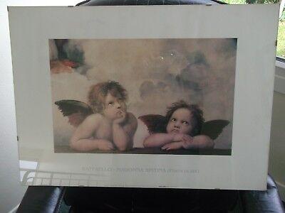 Raffaello Madonna Sistina (Particolare) Picture Print Approx Size 72x52 cms