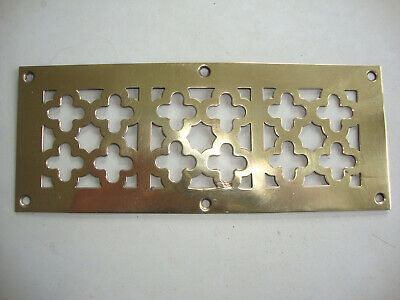 Antique decorative brass peirced air vent grill