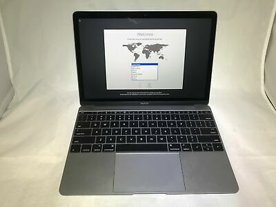 MacBook 12 Space Gray Early 2016 1.1 GHz Intel Core m3 8GB 256GB Good Condition