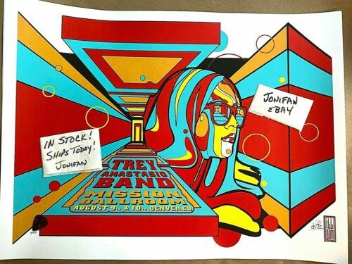 Trey Anastasio Mission Ballroom Denver CO 2019 Screen Print Poster SE S/N #/500