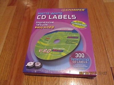 Nos Avery Cd Labels Cd Stomper Cddvd Labeling System Matte White 300 Pack