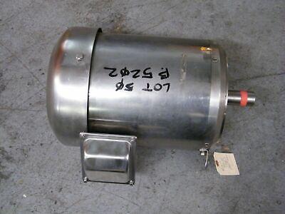 Sterling Electric Motor Xiy754pci 7.5 Hp 1725 Rpm 230460 Ss Washdown