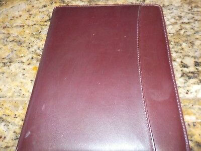 Vtg 90s Day Runner Classic Edition Brown Planner Zip Around Binder Extras