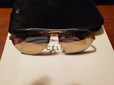 Celine Over-Sized Aviator Sunglasses - Gold