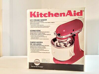 New in Box KitchenAid Ice Cream Attachment for Stand Mixer # KICAOWH