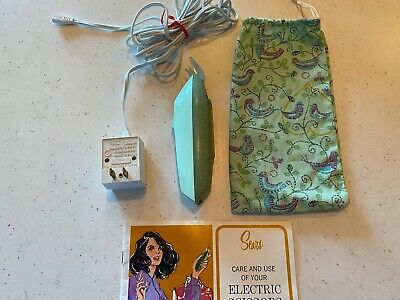 Vintage Sears Best Electric Scissors 2-speed cordless charging cord