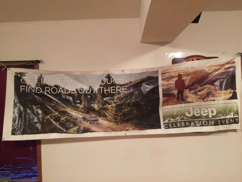 JEEP CELEBRATION EVENT Dealer Only Vinyl Banner JEEP