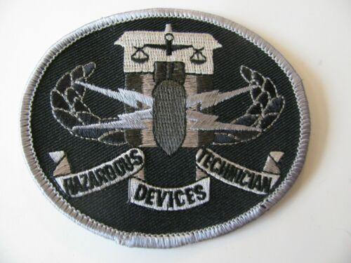 "FBI  -  Hazardous Devices Technician  Bomb Fixer  Patch Iron On  Rare Logo  3.5"""