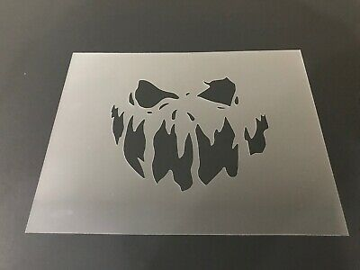 Halloween Mm (Skull #17 Stencil 10mm or 7mm Thick, Tattoo, Halloween, Scary,)