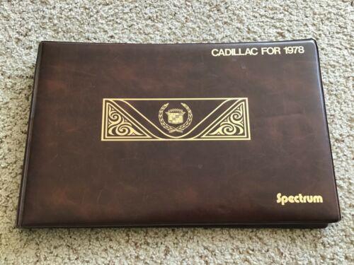 1978  Caddillac original dealership showroom comparison sales album.