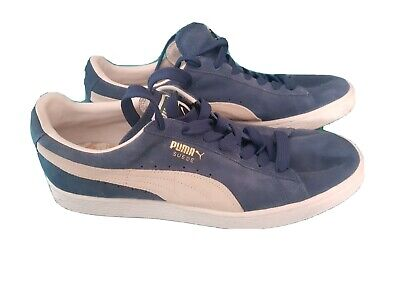 Mens blue puma suede trainers size 10