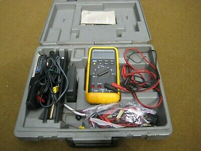 Fluke Model 87 - True Rms Multimeter With Case And Temp And Amp Probes