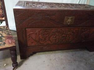 HUGE Carved Oriental Camphor Chest Tarragindi Brisbane South West Preview