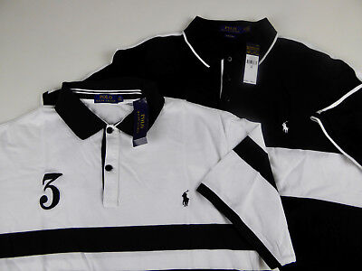 Chest Stripe Rugby Shirt - Polo Ralph Lauren SS Mesh Rugby Shirt $98.50-125 NWT #3 Striped Banner Chest